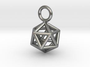 Pendant_Icosahedron-Small in Natural Silver