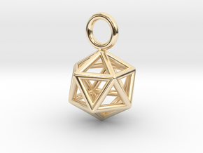 Pendant_Icosahedron-Small in 14k Gold Plated Brass
