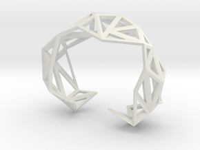 TRIANGULATED CUFF     in White Premium Versatile Plastic: Extra Small