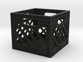 Milk Crate 1:10 Scale in Black Premium Versatile Plastic