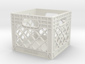 Milk Crate 1:6 Scale in White Premium Strong & Flexible