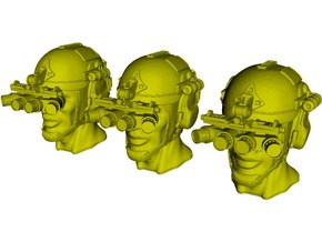 1/48 scale SOCOM operator B helmet & heads x 3 in Smoothest Fine Detail Plastic
