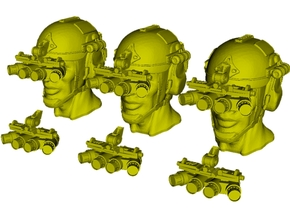 1/48 scale SOCOM operator B heads & NVG x 6 combo in Smoothest Fine Detail Plastic