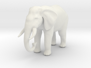 Printle Thing Elephant - 1/87 in White Natural Versatile Plastic