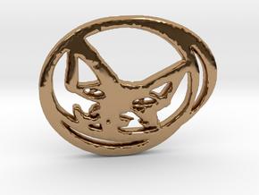 Artful Cat in Polished Brass