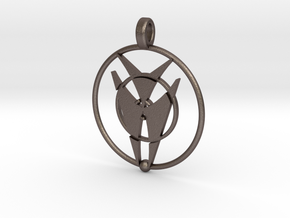 Peridgmus Orin Pendant in Polished Bronzed Silver Steel