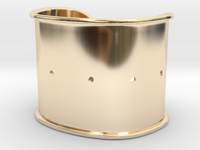 "Cuff Band Only - Bent (for wrists 2""x1.25"") in 14k Gold Plated Brass"