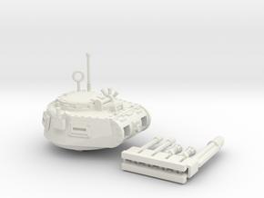 28mm Zerber APC turret + multiple guns in White Premium Strong & Flexible