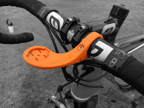 Garmin Out Front Aero Handlebar Mount in Orange Processed Versatile Plastic
