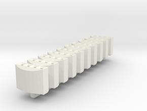DB Mülleimer 10x 1:160 / modern trash bin in White Natural Versatile Plastic