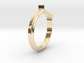 Shapesweeper Double Hexagon Ring in 14k Gold Plated Brass: 5.5 / 50.25