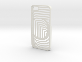 iPhone 5 CurvedLine Case in White Natural Versatile Plastic