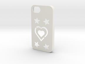iPhone 4/4S Coque Case in White Natural Versatile Plastic