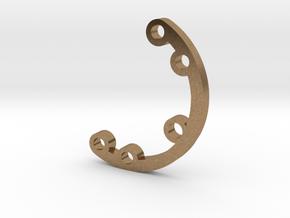 Rad fin 2 in Natural Brass