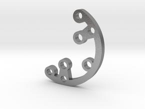 Rad fin 3 in Natural Silver