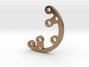 Rad fin 3 in Natural Brass