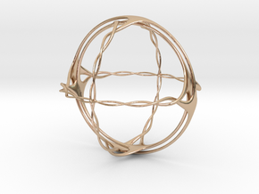 Knotty Pinehedron in 14k Rose Gold Plated Brass