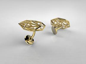 Cufflinks Geometric in 14k Gold Plated