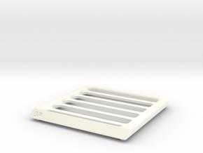 1/10 scale MEGA RAM ROOF RACK in White Processed Versatile Plastic