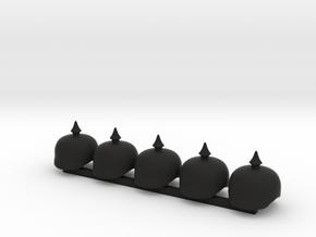 5 x Pickel Helmet in Black Premium Versatile Plastic