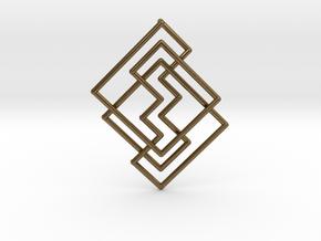 Cobweb Pendant in Natural Bronze: Medium