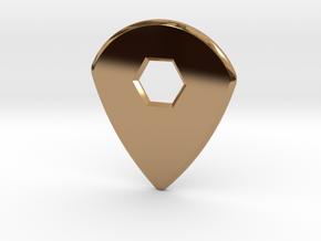 Guitar Pick (jazz design) in Polished Brass