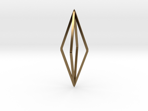 Minimalistic octahedron pendant in Polished Bronze
