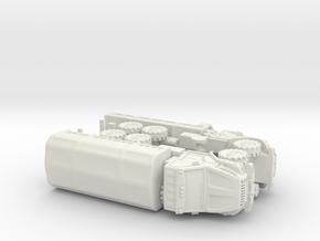 Russian GAZ Ural Next Trucks 1/144 in White Natural Versatile Plastic