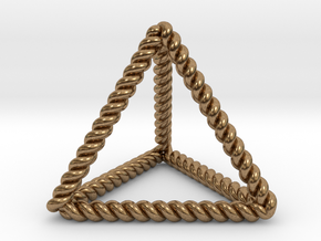 """Twisted Tetrahedron 1.4+"""" RH in Natural Brass"""