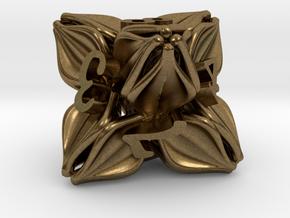 Floral Dice – D8 Gaming die in Natural Bronze