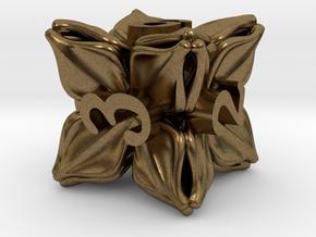 Floral Dice – D6 Gaming die in Natural Bronze