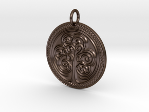 Celtic Shamrock Medalion in Polished Bronze Steel