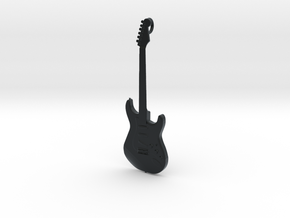 Stratocaster Guitar Pendant in Black Hi-Def Acrylate