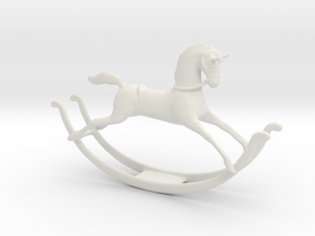 Printle Thing Rockinghorse - 1/24 in White Natural Versatile Plastic