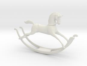 Printle Thing Rockinghorse - 1/24 in White Natural Versatile Plastic