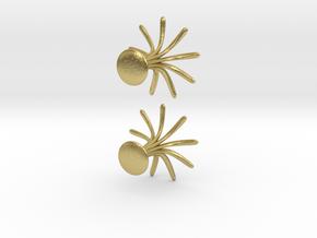 Cufflinks Flourish in Natural Brass