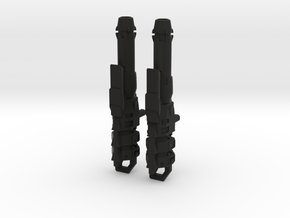 TR PMOP Rifle Set A in Black Premium Versatile Plastic