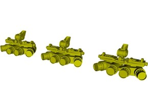 1/15 scale SOCOM NVG-18 night vision goggles x 3 in Smooth Fine Detail Plastic