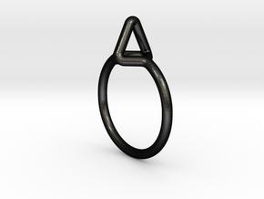 Summit Ring S.02, US size 7.5, d=17,5mm  in Matte Black Steel: 7.5 / 55.5