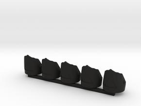 5 x British Grenadier in Black Premium Versatile Plastic
