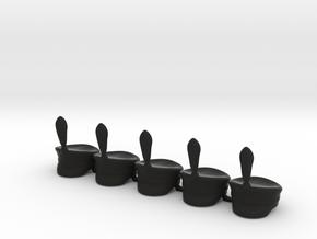5 x Russsian milita cap wP in Black Premium Versatile Plastic