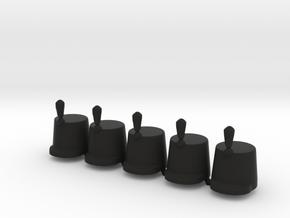 5 x British Shako lP in Black Premium Versatile Plastic
