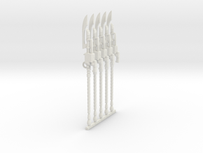 Guardian Spear (x5) in White Natural Versatile Plastic