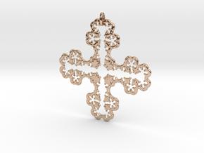 Koch Cross II in 14k Rose Gold Plated Brass