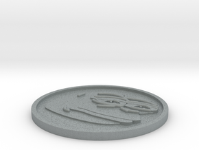 PepeCoin in Polished Metallic Plastic