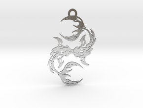 Pisces amulet in Natural Silver
