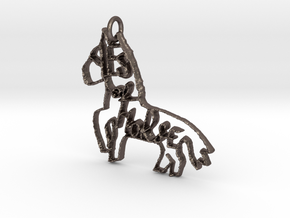 Yes of Horse! in Polished Bronzed Silver Steel