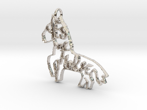 Yes of Horse! in Rhodium Plated Brass