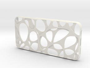 Samsung Galaxy S7 Edge Case_Voronoi in White Premium Versatile Plastic