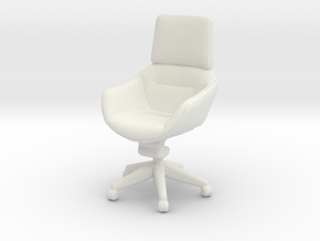 Miniature Elle Conference Chair -  Bentley in White Natural Versatile Plastic: 1:24